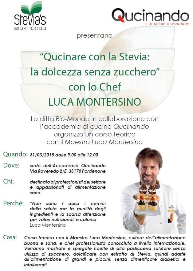 corso di cucina con la stevia